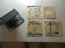 4 Lot (Nos) Vtg Weber/Worth Tapered Nylon Leaders w/ Weber Duo-Pak 60 Fly Wallet