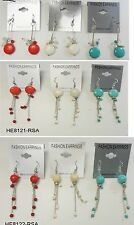 Fashion Jewelry lots 9 pairs Mixed style drop dangle earring- tu01