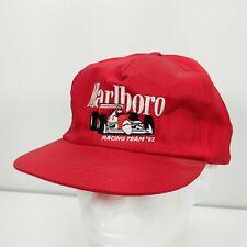 Vintage Marlboro Racing Team '92 Hat cap 1992 indy cigarette Red snapback