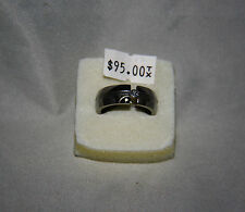 Stainless/Silver Cubic Zirconia Mens Ring