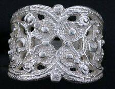 Filigree .925 Sterling Silver Heavy Casted Ring Size 6 PSR265