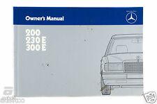 Mercedes-Benz Owner's Manual 200 230E 300E EURO *1245840296 *6550561302