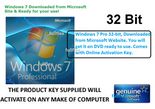 Windows 7 Professional 32-bit SP1 - DVD with Original Microsoft Software License