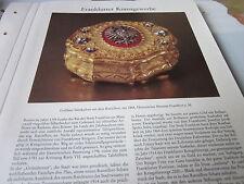Frankfurt Archiv A 8 Kunstgewerbe 5041 Goldene Tabaksdose Ratssilber 1864