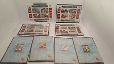 Disney Africa - Angola Souvenir Stamps Sheet Railroad Series Collection Lot