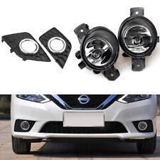 Fog Lights Cover Chrome Lamp For Nissan Sentra Sylphy 2016 17 2018 Bezel H11 SET