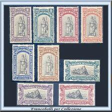 1918 San Marino Pro combattenti Serie completa n. 54/62 Nuovi Integri **