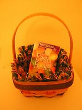 new LONGABERGER SMALL EASTER BASKET COMBO booklet LINER protector 1998 eggs NR