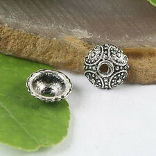 30pcs Tibetan silver round dotted spacer beads H0115