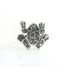 Black Froggie Ring (Adjustable + Arms & Feet Moving)