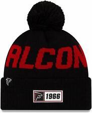 Nfl Atlanta Falcons Road Sideline 2019 Bobble Woolly Hat Cuffed Knit Newera