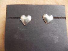 stud Earrings Taxco Mexico Puffed Sterling Silver Heart