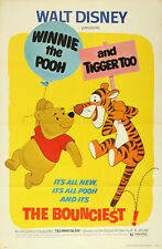 Walt Disney Winnie the Pooh and Tigger To Movie Poster Replica 13x19 Photo Print