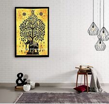 Indian Hippie Elephant Tree of Life Tapestry Wall Hanging Throw Dorm Decor Gypsy