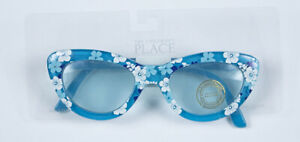THE CHILDRENS PLACE SUNGLASSES NWT BLUE FLORAL AGE 8-14  UV PROTECTION