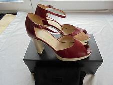 NEU Hugo Boss Leder High Heels NP 349€ Pumps Sandaletten Schuhe 38 38,5 39