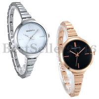 Stainless Steel Wrist Watch for Women Luxury Silver Rose Gold Tone Analog Quartz