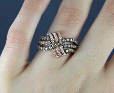 LeVian 14K Rose Gold Princess Alexandra 1.37ct Chocolate Diamond Band Ring