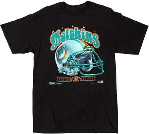 Vintage Miami Dolphins NFL T-Shirt Black Unisex Cotton Reprint S to 3XL TK1556