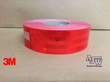 2m x 55mm RED Conspicuity Tape ECE104 Diamond Reflective 3M Truck Lorry
