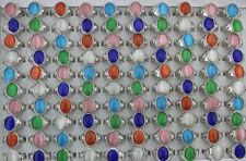 Wholesale Jewelry Lots 32pcs Mixed Cat's-Eye Stone Women Classic Silver P Rings