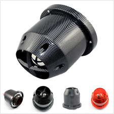 "3"" Inlet Carbon Fiber Look Car Hi-Flow Air Filter For Cold Air/Short Ram Intakes"