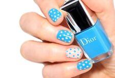 DIOR Vernis 795 BLUE Tropical (Milky Dots) Nail Polish 7ml Holiday Chic Fun RARE