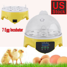Digital Clear Automatic 7 Egg Incubator Hatcher Temperature Control Chicken Bird