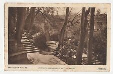 Barcelona Monjuich Restaurant de la Font Del Gat Spain 1928 Postcard 355a