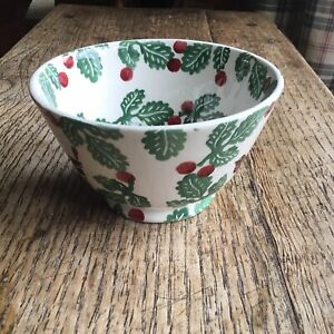 Emma Bridgewater Small Old Bowl Birds and Berries Christmas New