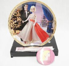 Barbie with Love Holiday Dance 1965 Plate and Button Pinback #188794 Enesco NIB