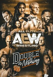 AEW All Elite Wrestling Double or Nothing Event Poster - NEW - 11x17 13x19 17x25