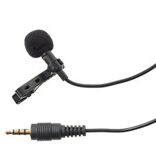 Tie Clip Mic Lapel Lavalier Condenser Microphone for iPhone iPod Smartphone