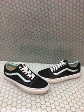 VANS Old Skool Black Mint Canvas Lace Up Skate Shoes Men Size 7.5  Women's 9