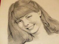 Mario Frascaroli - Retrato Adolescente Dibujo Original Firmado Lápiz 1984 (13)