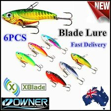 6 x 7g 1/4oz X Blade Lures (Japan) | Tournament Quality | Owner Japan Hook Bream