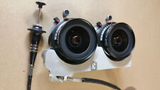 Stereo camera lens panel, Medium Format 3D, synced matched pair of 47mm Schneide