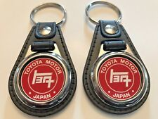 TOYOTA MOTOR KEYCHAIN SET TRADITIONAL RED AND WHITEB2 PACK
