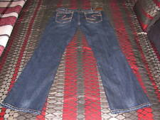 Women's Silver jeans Aiko Boot Cut Size 33 x 33 low rise thick stitch dark Mint