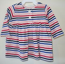 New With Tags Hanna Andersson Multi Stripe Dress ~ Girl's Size 140, 9-11 year