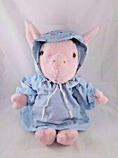 """Eden Pink Pig Plush in Cap & Gown Pajamas 16"""" Vintage"""