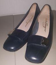 Salvatore Ferragamo Boutique size 8 A2 Black Heels Pumps Shoes narrow
