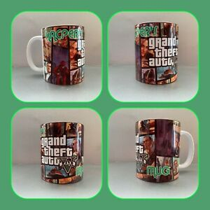 personalised mug cup grand theft auto Rockstar games GTA Xbox PlayStation ps5 4