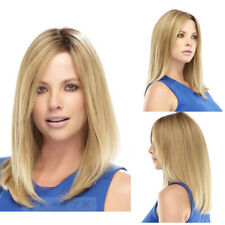 Medium Long Blonde Wig For Women Shoulder Length Synthetic Straight Hair Bob Wig