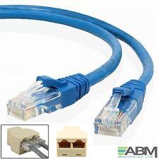2 x 1m  RJ45 Cat5e Ethernet Network Patch Cable + 1 x 3 Port Y Coupler Splitter