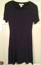 Dressbarn Women's Juniors Short Sleeve Black & White Polka Dotted Dress Size 4