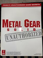Metal Gear Solid Prima Unauthorized Strategy Guide Playstation 1 PS1