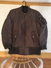 American Eagle Outfitters Olive Green Bomber Jacket Size M Men's