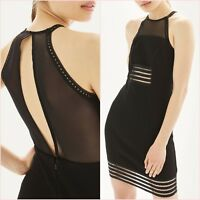 Topshop Little Black Mesh Bodycon Mini Dress Size 10 12 14 US 6 8 10 Blogger ❤