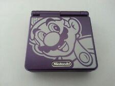 Nintendo Game Boy Advance SP Purple Mario Handheld System